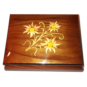 Edelweiss Inlay Ring Box