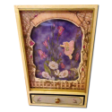 Floating Floral Fairy Shadow Box / Yellow