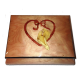 Heart with Two Doves Ring Box