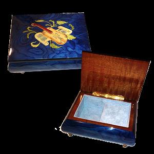 Musical Instrument Inlay Ring Box